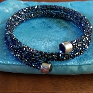 Swarovski crystal dusted bracelet